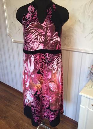 Красивое  платье  из трикотажной вискозы большого размера xl, ...