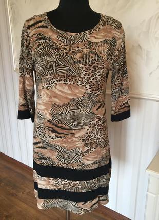 Платье-туника из трикотажной вискозы, размер 48-50.