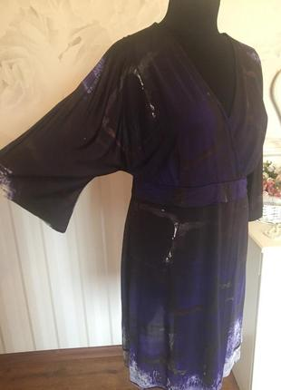 Очень красивое платье из трикотажа-масло, размер 18 uk, наш 50.