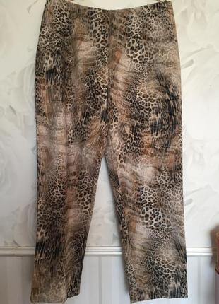 Стильные брюки штаны из стрейч- котона, большого размера 52-54.