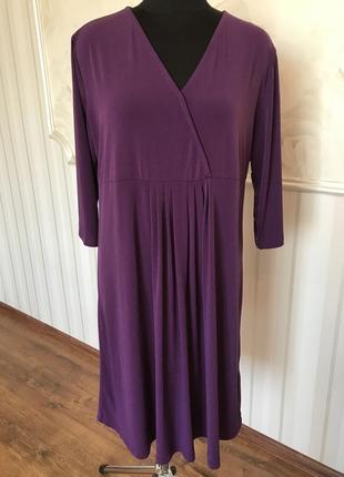 Трикотажное платье большого размера , 56-58.
