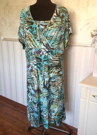 Платье большого размера из трикотажной вискозы, размер 24\26 ,...