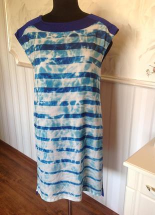 Красивое трикотажное платье размер l-xl, наш 48.