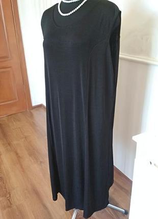 Базовое черное платье супер-стрейч большого размера 64-66 (30 ...