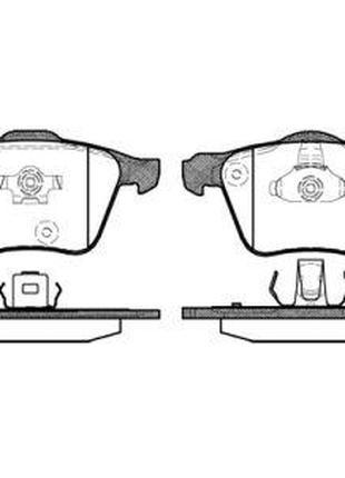 Тормозные колодки, к-кт. VOLVO XC90 I (275) 2002-2015 г.