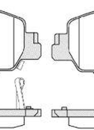 Тормозные колодки, к-кт. HONDA HR-V (RU) / HONDA / HONDA / HON...