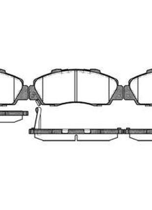 Тормозные колодки, к-кт. HONDA HR-V (GH) / HONDA CR-V I (RD) /...