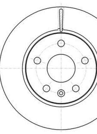 Тормозной диск CHEVROLET MALIBU (V300) / VAUXHALL INSIGNIA Mk ...