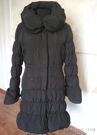Утепленное пальто холодная осень-теплая зима, размер м, подойд...