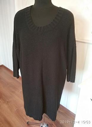 Удлиненный свитер большого размера, 56-58.