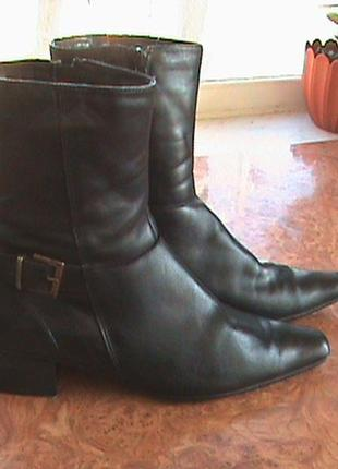 Демисезонные ботинки кожзам, стелька 25-25,5.