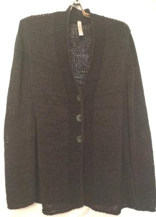Суперский черный кардиган-кофта, размер 54-58.