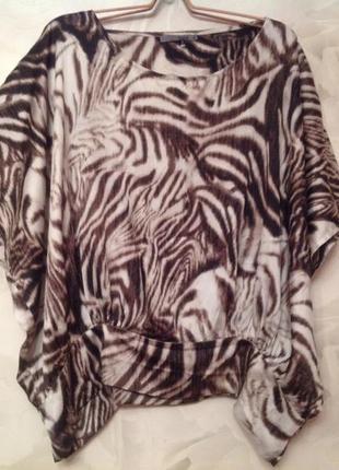Красивая атласная блуза на манжете, большой размер xl, наш 56-60.