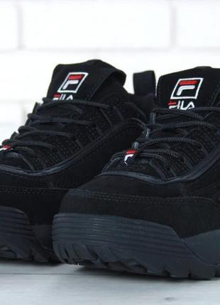 💥fila disruptor ii fur💥натуральные зимние ботинки кроссовки му...