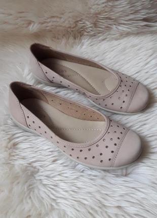Кожаные туфельки с перфорацией hotter 36 размер