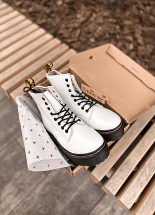 Dr.martens кожаные зимние ботинки на меху женские