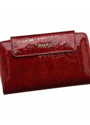 Женский кожаный кошелек rovicky 8808-far rfid