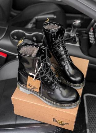 ❤️dr.martens нереальные❤️зимние кожаные высокие ботинки на меху