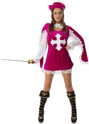 Костюм девушка-мушкетер 44-46 р. косплей маскарад ролевые игры
