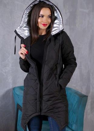 Удлиненная женская куртка пальто