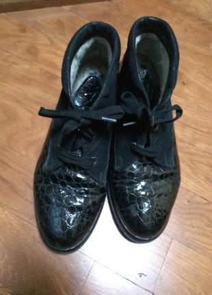 Ботинки утепленные 100%кожа