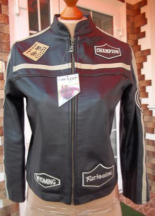 Кожанка куртка фирмы heeli 9-10 лет новая оригинал