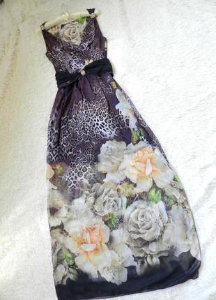 ✅красивое шифоновое платье сарафан в пол