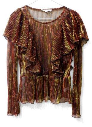 Блуза блузка сетка  металлик сеточка с металлизированной нитью...