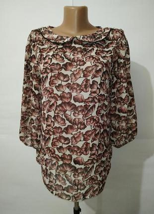 Нежная красивая блуза в цветы tu uk 12/40/m