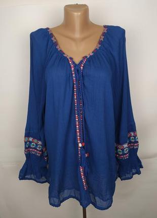 Блуза новая хлопковая с вышивкой бисер monsoon uk 14/42/l