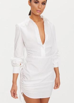 Платье, удлиненная рубашка prettylittlething , p. xs