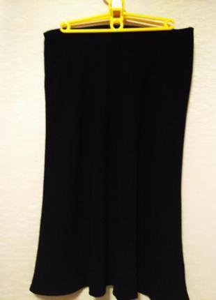 Классная стильная юбка, черного цвета, размер 46-48