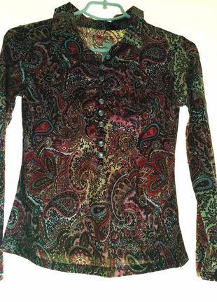 Классная трикотажная блуза , размер м