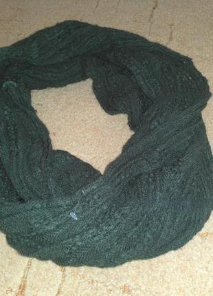Классный шарф, бутылочного цвета