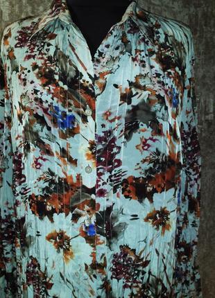 Отличная яркая рубашка-блуза, размер 50-52