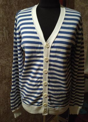 Натуральная фирменная мужская кофта, размер 50-52