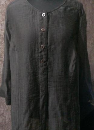 Классная шифоновая блуза, размер 50-52