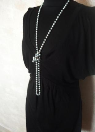 Отличное чёрное платье- туника, размер 46-48