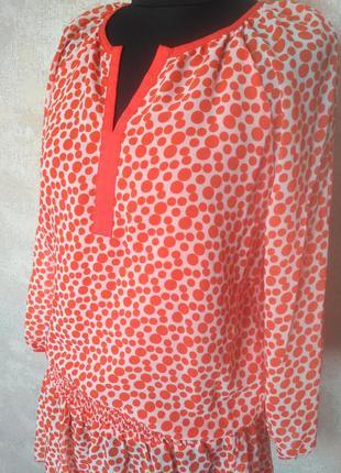 Нарядная шифоновая блуза фирмы miss lilium, размер 48-50