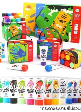 Набор пальчиковых красок 6 и 12 штук Jar Melo пальчиковые краски