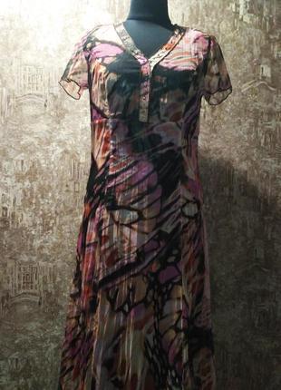 Классное нарядное платье, украшена металлическими паэтками, ра...