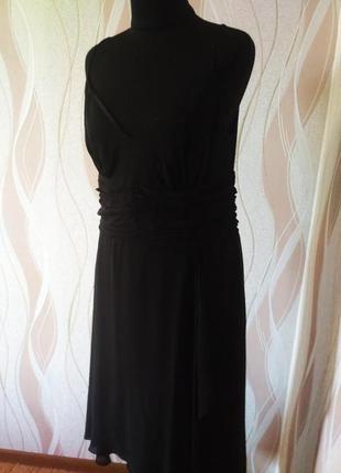 Чёрное оригинальное платье размер 48-50