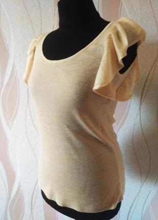 Отличная бежевая блуза- маечка, размер 44-46