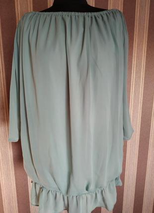 Стильная блуза, цвет ментол, размер 40-42