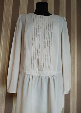 Нежнейшее шелковое платье -туника, размер 48-50