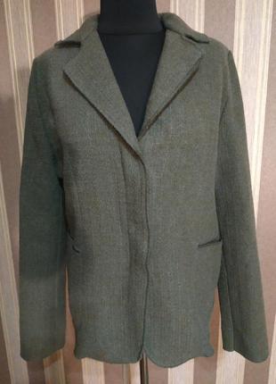 Фирменный итальянский шерстяной пиджак, размер 50-52