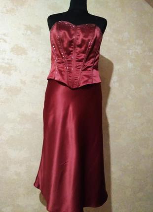 Коктейльное платье ,вечернее платье, платье бюстье (корсет+ юб...
