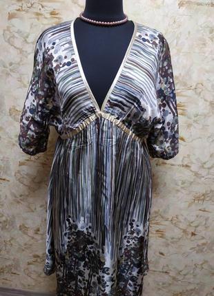 Очень стильное, яркое шёлковое платье didi, размер 56-58