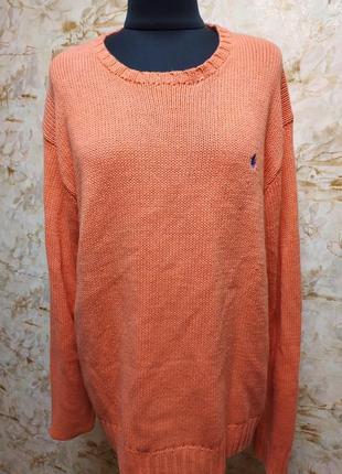 Яркий стильный фирменный polo мужской свитер , размер 52-56