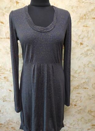 Стильное классное трикотажное платье , размер l